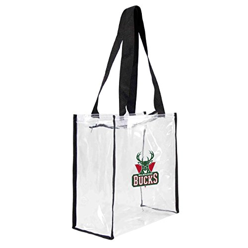NBA Milwaukee Bucks Clear Square Stadium Tote by Littlearth