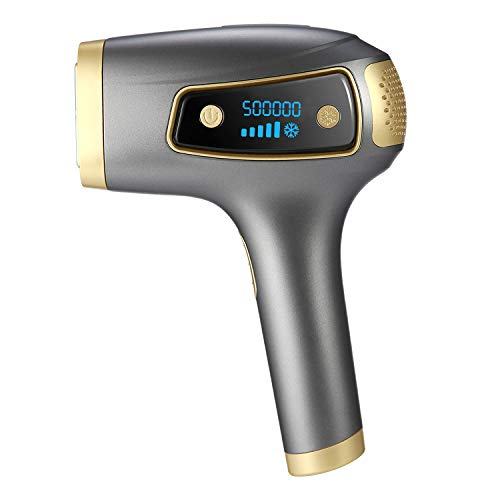 Ipl Hair Removal System- Dr. Raderm Laser Hair Removal for Men and Women – Gentler and Safer on Skin - Permanent Hair Removal Results At Home – 500k flashes