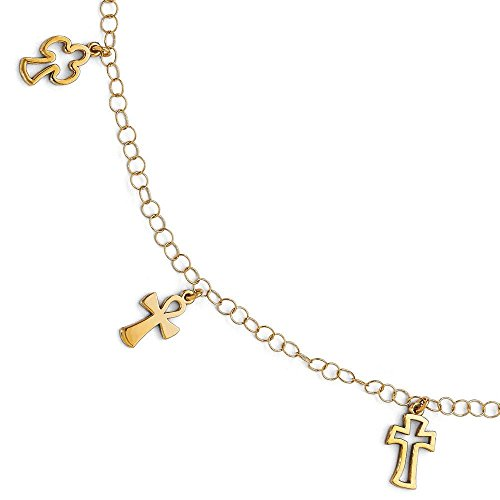 Bracelet poli 14 carats - 19 cm-JewelryWeb