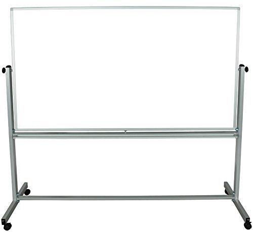 Luxor 72x48 Inch Reversible Whiteboard/Grey Frame