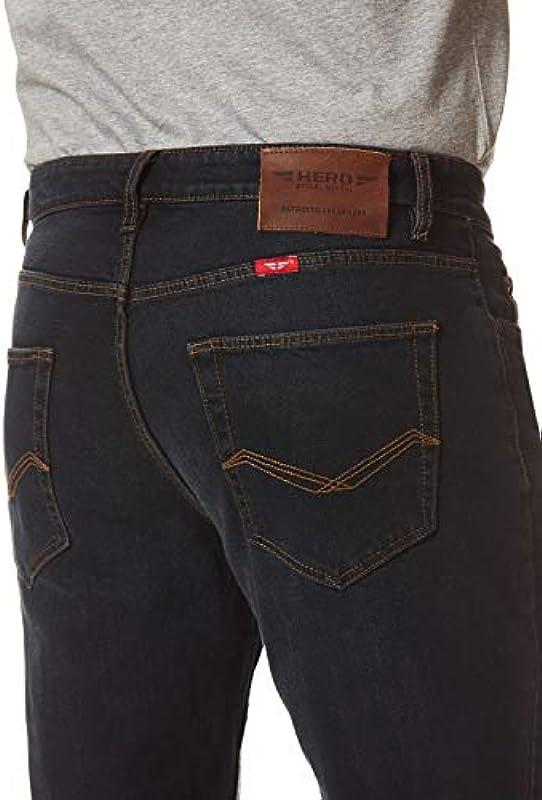 Hero Phoenix/Denver Big Straight Cut męskie jeansy stretch spodnie - Blueblack WASH: Odzież