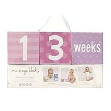 Tiny Ideas Photo Sharing Age Blocks, Pink/Purple