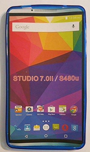 For BLU STUDIO 7.0 II S480U PERFECT FIT TPU (Transparent Blue TPU Case) - Blu Studio 7 Phone Case