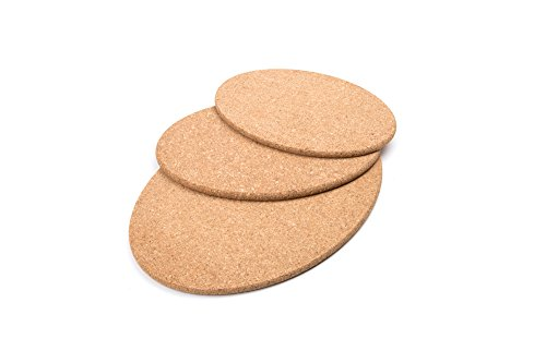 Fox Run 4444 Cork Trivet Set, 3-Piece