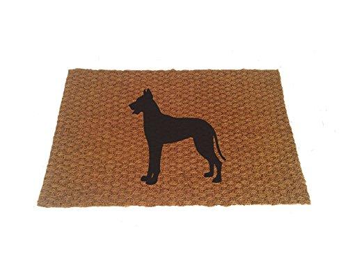 - Great Dane Silhouette Doormat (Indoor or Outdoor Use)