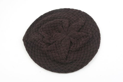 Pop Women's Beret for Spring/Fall Brown One size