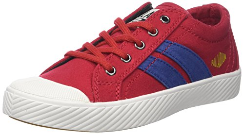 Palladium Unisex-Kinder Pallaflame Low Canvas Enfant Sneaker Rot (Red Rouge Salsa/star White N45)
