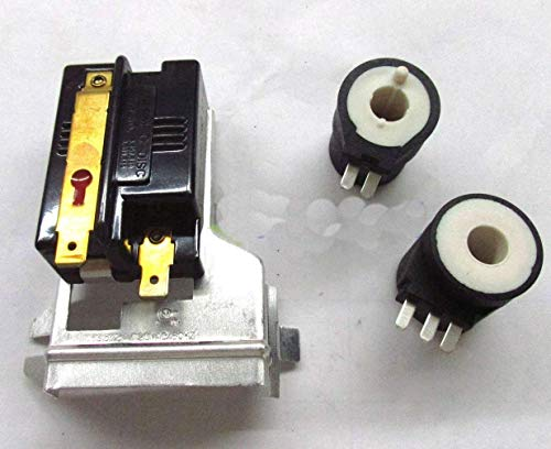 Edgewater Parts Gas Valve Coils and Flame Sensor Kit Compatible with Whirlpool, Kenmore, Maytag, Frigidaire 338906 279834 GAS DRYER HEAT SENSOR