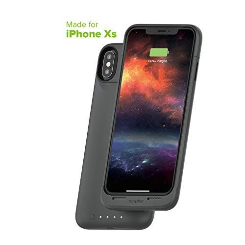 mophie Juice Pack Air - MFI Certified - Wireless Charging - Protective Battery Pack Case for Apple iPhone Xs/X - Graphite