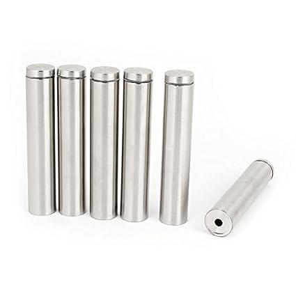Amazon.com : 6pcs tono de Plata puerta de vidrio sin Marco ...