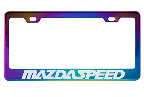 Fit Mazdaspeed Polished Neo Chrome License Plate Frame (Plating Color)