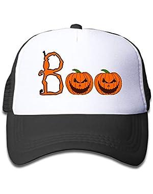 Halloween Boo5 On Children's Trucker Hat, Youth Toddler Mesh Hats Baseball Cap