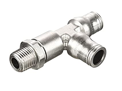 Nickel Plated Brass Parker 171PLM-6M-2R-pk20 Prestolok PLM Metal Push-to-Connect Fitting Tube to Pipe Push-to-Connect and Male BSPT Run Tee Pack of 20 Pack of 20 6 mm and 1//8 6 mm and 1//8