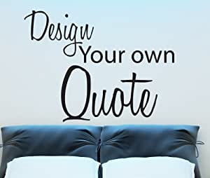 Design Your Own Quote Vinyl Wall Sticker Wall Art (Gold, Small)