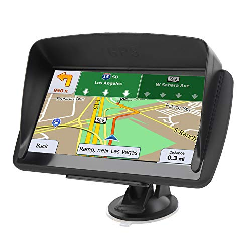Car GPS Navigation, LONGRUF 7-inch HD Display, 256MB-8GB Real Voice Broadcast, Install The Latest Map of The United States (Free Update Lifetime Map)