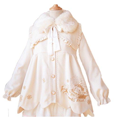 Nuoqi Winter Lolita Coat Womens Girls Cosplay Coat Costumes by Nuoqi (Image #1)