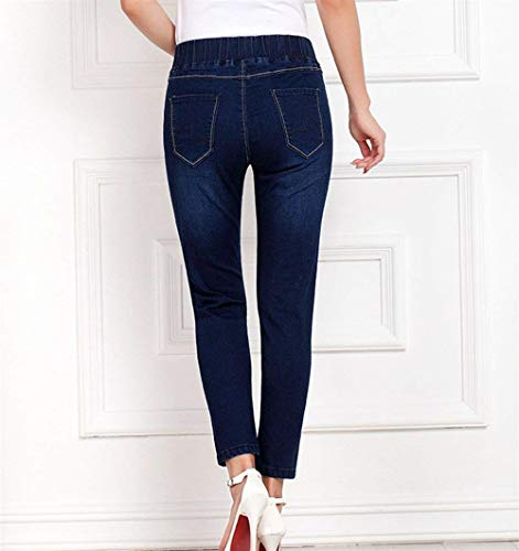 Mesdames Slim Jeggings Casual Dunkelblau 8 Stretch Automne Denim Young Pants Hiver Pencil Fashion Jeans Coupe Cheville Styles 7 Skinny Qsrthd