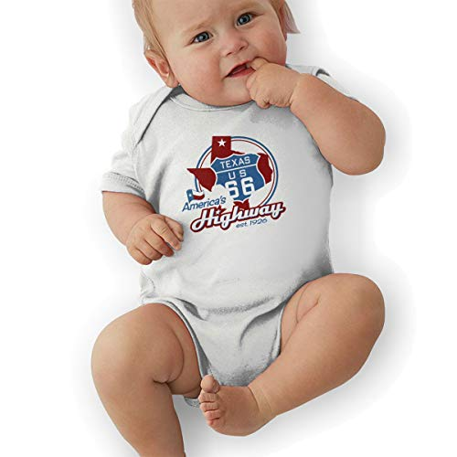 (DGGE Route 66 Texas Baby Romper Baby Boy and Baby Girl Suit White)