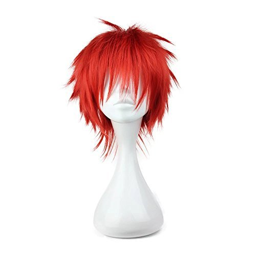 Fashion Anime Costume Party Cosplay Short Wig Red Boy Male -