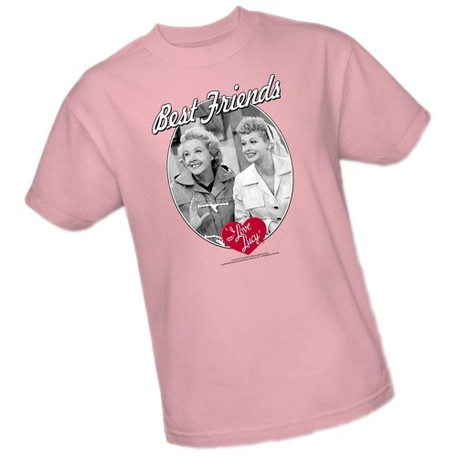 Best Friends -- I Love Lucy Adult T-Shirt, Medium