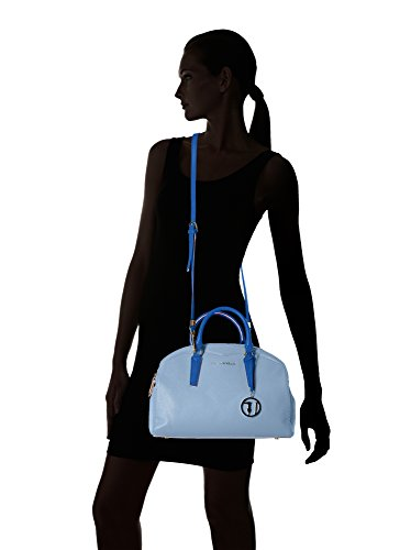 Trussardi Womens/Ladies Fashion bolso de mano con gran Logo Llavero Azul Royal