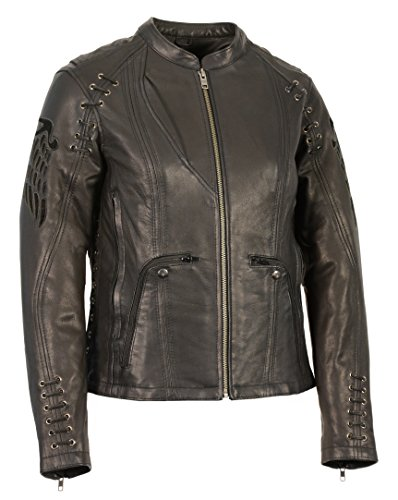 Milwaukee Leather Women's Lightweight Scuba Racer Jacket w/Lace & Grommet Details