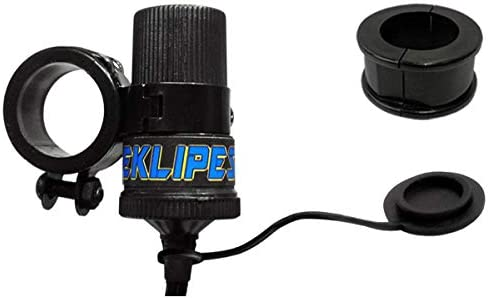 EKLIPES EK1-161B Black Viper Adjustable Dual Ring Handle Bar Mount for 12 Volt Power Socket