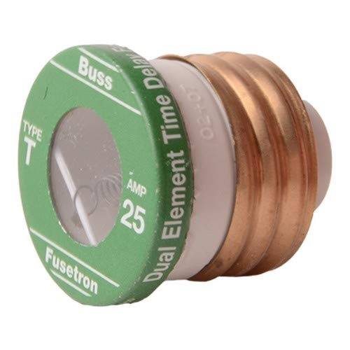 Morris T626-25T, Fuse,Time Delay Plg, Type T,25A (Pack of 44 pcs) by Morris