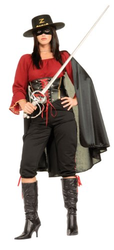[Female Super Deluxe Zorro Costume - Womens Small] (Zorro Female Costumes)