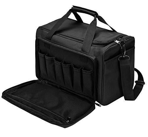 YUOTO Tactical Shooting Gun Range Bag Handgun Ammo Pistol Bag Lockable Black