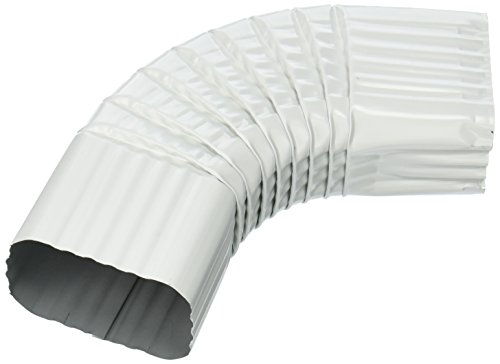 AMERIMAX HOME PRODUCTS 33065 2x3 Galvanized B Elbow, White by Amerimax Home Products
