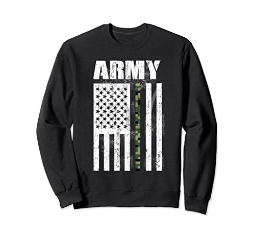 Unisex America Flag U.S. Army Proud Veteran Military Patriotic Gift Medium Black