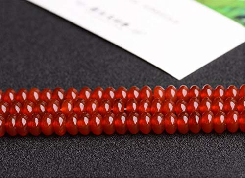 DIY Natural Red Agate Abacus Disc Beads Semi-Finished,4 Size to Choose (ML26) (4mm10mm)