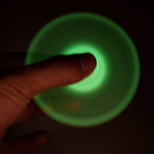 Juslink Fluorescence Fidget Spinner Glow in the Dark, Guarantee 3 to 5 Minutes Spin Time, Hand Fidget Spinner Toys for Kids and Adults