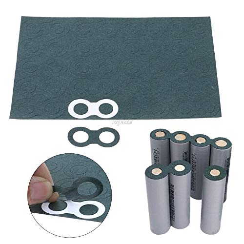 TX-CONSUMER 100Pcs 18650 Battery Anode Hollow Insulation Pad Pointed Barley Paper Gasket