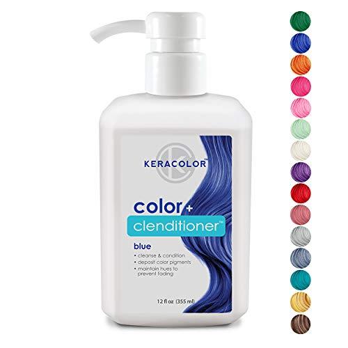 (Keracolor Clenditioner Color Depositing Conditioner Colorwash, Blue, 12 fl. Oz)
