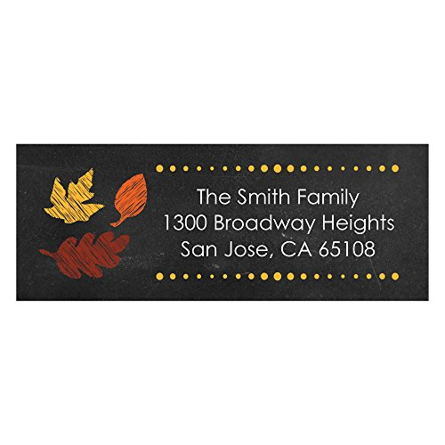 eaves - Personalized Fall Return Address Labels - Set of 30 ()