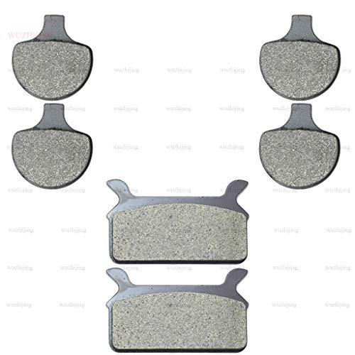 CNBP Front & Rear Brake Pads for Harley FLHR 1340 Electra Glide Road King 94-98 1450 FLHRC Classic 99 FLHS Sport 90-99 FLHT 95-98 FLHTCU Ultrasemi Metallic