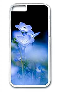Blue Flowers 2 Slim Soft Cover for iPhone 6 Plus Case ( 5.5 inch ) PC Transparent Cases