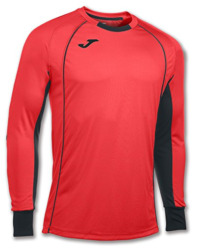 Camiseta deportiva de manga larga de color coral flúor