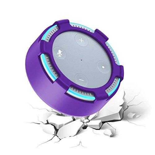 Price comparison product image For All-New Amazon Echo Dot 2,Sunfei Protective Silica Gel Cover Case (Purple)