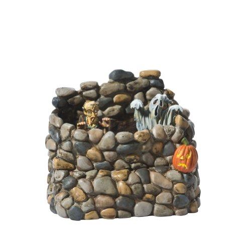 Department 56 Snow Village Halloween Animated Haunted Wall Accessory Figurine (Snow Accessory Halloween Village)