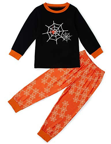 Loveternal Unisex Kids Sleepwear Set Boys Girls Halloween Pajamas 2 Pieces