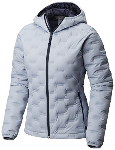 Mountain Hardwear StretchDown DS Hooded Down Jacket - Women's Arctic Blue, M