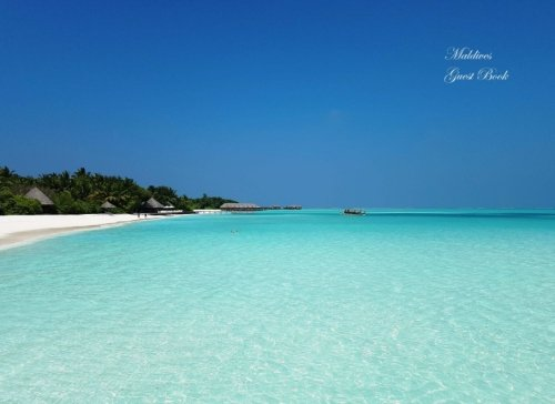 Maldives Guest Book: Blank 100+ Page Option: Honeymoons, Holidays, Vacations, Funerals, Baby Showers, Birthdays, Anniversaries, Christenings, ... & messages. (Gifts & Accessories) (Volume 61)