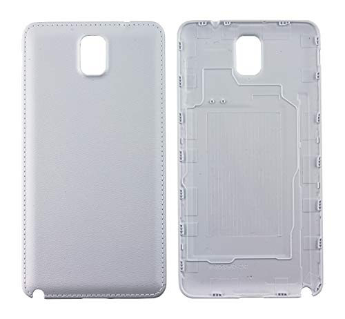 Nsiucion Samsung Galaxy Note 3 Battery Back Cover, Plain Premium Hard Plastic Housing Replacement Back Cover Case for Samsung Galaxy Note 3 III N9000 N9005 (White)