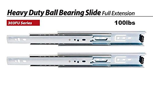 Five Pairs of 24'' Full Extension Ball Bearing Drawer Slides. BIFMA 100# / PR by Ball Bearing Slides