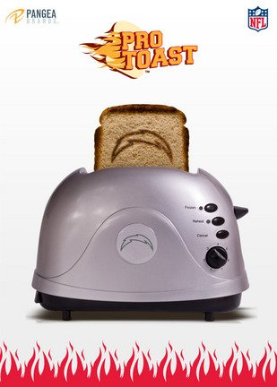 NFL San Diego Chargers Protoast Team Logo Toaster by Pangea Brands
