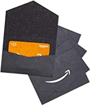 Amazon.com $25 Gift Card in a Black and Silver Mini Envelope - Pack of 5