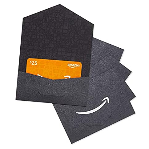 amazon.com $25 gift card in a black and silver mini envelope - pack of 5 - 41MyB8KfNVL - Amazon.com $25 Gift Card in a Black and Silver Mini Envelope – Pack of 5